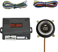 $23 » BANVIE DC 24V ① Push to Engine Start Stop Iginition Button kit + ② Remote Engine Starter for 24V Truck & Lorry