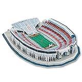 DJFT 3D Rugby Modèle de Terrain, Buckeyes Ohio Stadium Model Puzzle Fans Souvenir Bricolage Puzzle Jouets éducatifs Anniversaire Cadeaux de Noël for Adultes Enfants (16' x 12' 3' ×)