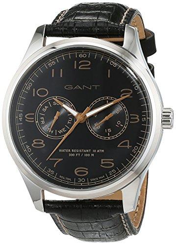 GANT TIME Herren Analog Quarz Uhr mit Leder Armband W71601