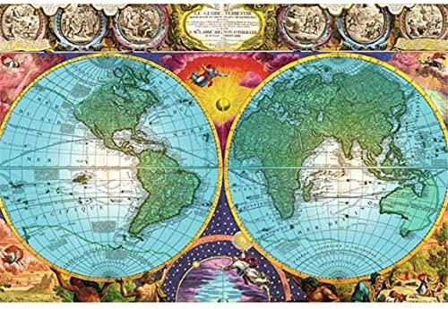 HJHJHJ Puzzle para Adultos 1500 Piezas (Mapa) Rompecabezas 1500 Piezas para Adultos Niños Edades Niños y Adultos 87x57cm