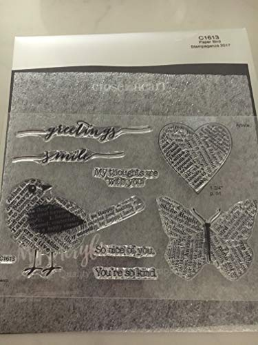Close To My Heart C1613 Paper Bird My Acrylix Stamp Set CTMH