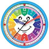 M.A CHALJUPHI Kids Clock | Kids Room, Playroom Analog Silent Wall Clock | Visual Learning Bedroom Clock for Kids | Perfect Educational Tool for Home, Classroom, Teachers and Parents.