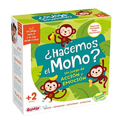 Lúdilo - ¿Hacemos el mono?, Juegos educativos niños 2 años, Jugar en familia, habilidades motoras, juegos infantiles, juegos educativos, motricidad