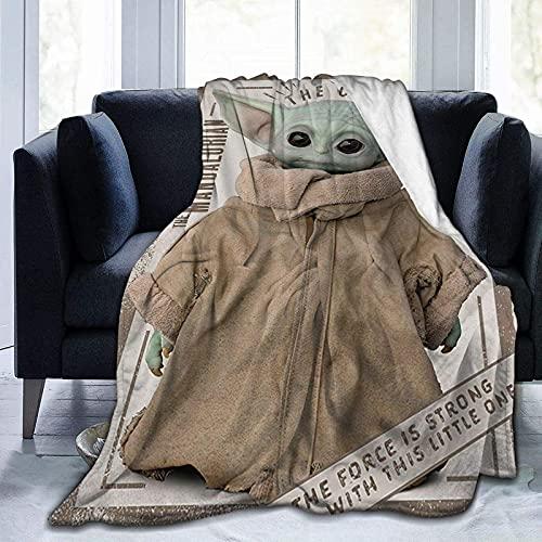 Baby Yo-d-a Coperta in pile ultra morbida e calda coperta leggera anti-pelucchi, per adulti e bambini