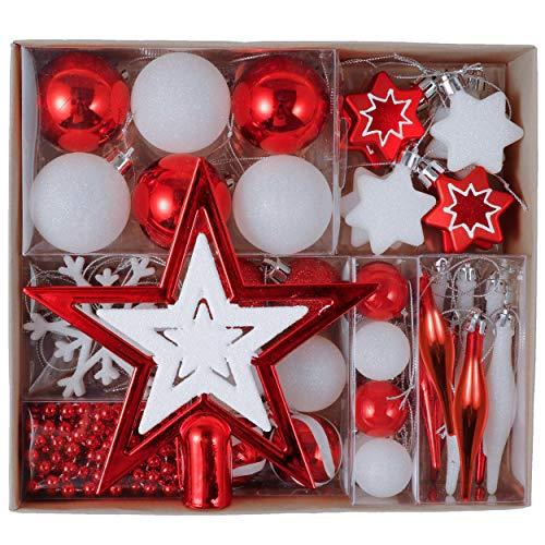 Valery Madelyn 52Pcs Bolas de Navidad de 3-5cm, Adornos de N
