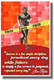 Success Is a Few Simple Disciplines Practiced Everyday - Jim Rohn (Red) - NEW Classroom Motivational Quote Poster