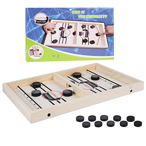Funmo Hockey Brettspiel,Katapult Brettspiel, Tisch Hockey Brettspiel,Fast Sling Puck Game, Fast Sling Puck Game, Hockey Game für Kinder & Familie, (20 Schachfiguren)