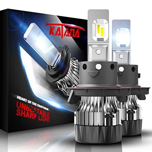 KATANA H13 LED Headlight Bulbs w/Mini Design,10000LM 6500K Cool White CREE Chips 9008 All-in-One Conversion Kit
