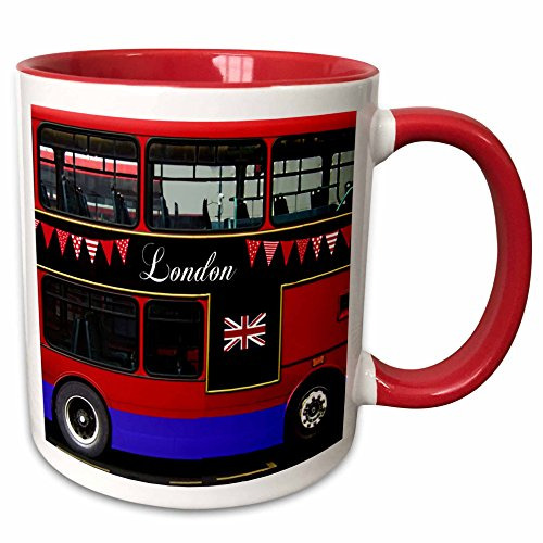 3dRose mug_113051_5'London double Decker Red Bus with...