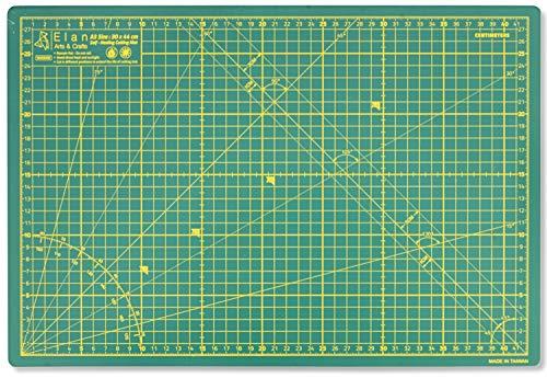 Elan Tapis de Découpe A3 Vert, Tapis de Decoupe Autocicatrisant, Plaque Découpe, Tapis de Decoupe Couture, Tapis de Coupe, Tapis Patchwork 44cm x 30cm (A3)