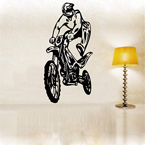 wandaufkleber selbst gestalten Motocross Sport aufkleber dekoration auto Für Wohnzimmer Schlafzimmer jungen zimmer Wohnkultur