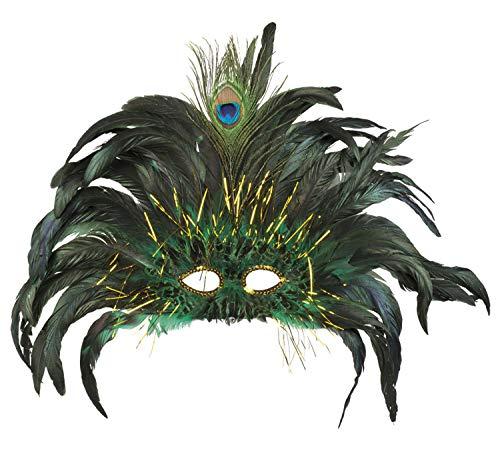 Boland Máscara de carnaval Rio Pavone con plumas