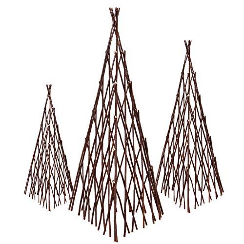 Nature by Kolibri Rankgerüst - Rankturm als Rankhilfe - für Kletterpflanzen, Rosen, Efeu und Clematis - 3er Set