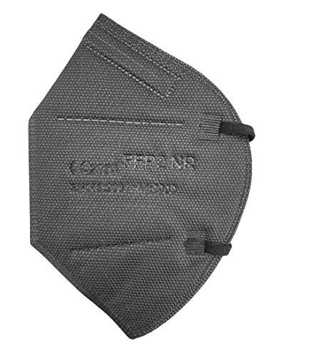 ARCOM - 20 Mascherine FFP2 NERE - Certificato CE - 5 Strati - Confezionate Singolarmente - Confezione da 20 pezzi