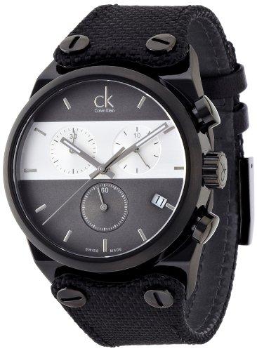Calvin Klein Reloj Cronógrafo para Hombre de Cuarzo con Correa en Tela K4B384B3