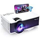 Movie Projector, bonsaii Full HD 1080P & 200' Display Supported WiFi Projector, 5500L Outdoor Movie Projector with Speakers Compatible with Android/iOS/Laptop/HDMI/USB/SD/VGA