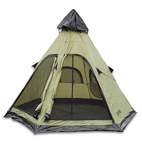 Intense Wilderness Survival Gear Four-Person Teepee Tent