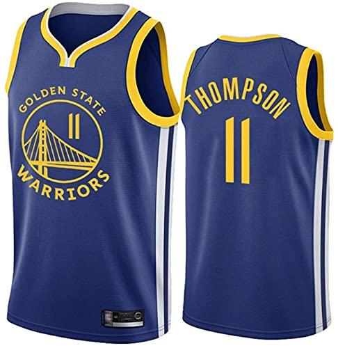 llp Guerreros # 11 Klay Thompson Thompson Men's Basketball Jersey, Uniforme de Baloncesto para Bordados Transpirable sin Mangas, Chaleco Deportivo Absorbente de Sudor Jersey