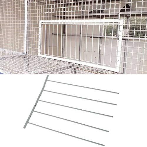 ECMQS - Juego de 5 trampas de pájaros para puerta de jaula de pieón de acero inoxidable