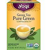 Yogi Tea - Green Tea Pure Green (6 Pack) - Supports Vitality - Great as Hot or Iced Tea - 96 Tea Bags