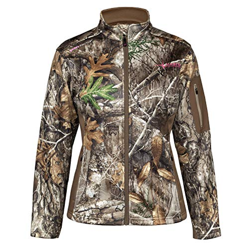 HABIT Women's Townsend Ridge Techshell Jacket, Large, Realtree Edge/Cub