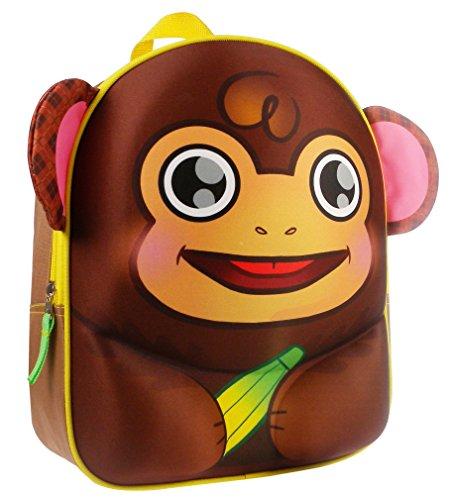 Kidzroom 030-7575-1 Animal Friends Sac à dos en forme de singe 3D