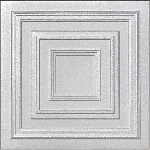 White Styrofoam Decorative Ceiling Tile Antyx (Package of 8 Tiles) - Other Sellers Call This Chestnut Grove and R31