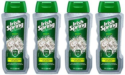 Irish Spring Gear Men's Body Wash, Exfoliating Clean with Volcanic...
