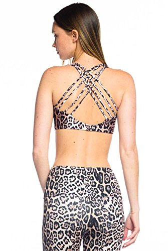 Onzie Chic Bra-Leopard-S/M Womens Active Workout Leopard