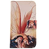 Lankashi Flip Etui Case Cover Cuir Coque Protection Housse Pour Alcatel One Touch Idol S OT-6034R Wing Girl Design
