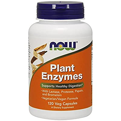 NOW Supplements, Plant Enzymes with Lactase, Protease, Papain and Bromelain, 120 Veg Capsules