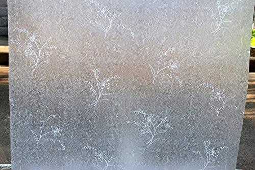 Película Opaca para Ventanas teñida de privacidad Pegatina de Vidrio Autoadhesivo electrostático Esmerilado película Decorativa para Puertas y Ventanas del hogar V 50x200cm