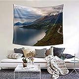 RROOT Mount Creighton Southern Alps Otago Zealand - Tapiz decorativo para el hogar, 152 x 51 pulgadas, 1 color, 80*60inch