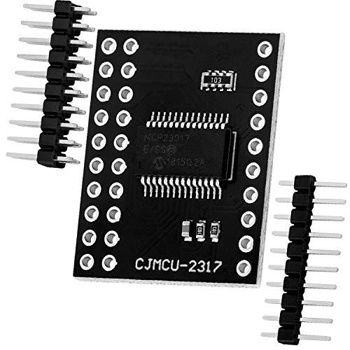 AZDelivery MCP23017 Port Expander 16-Bit-I/O Bidirektional Expander mit I2C serieller Schnittstelle kompatibel mit Arduino!