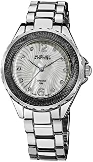 August Steiner Women's Fashion Diamond Watch - Radiant White Dial on Silver Stainless Steel Oyster Bracelet - AS8064