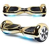 "BEBK Elektro Scooter, 6.5"" Hoverboard, Self Balance Scooter mit Bluetooth Lautsprecher, 2 * 250W Motor, LED Lights (Gold) -"