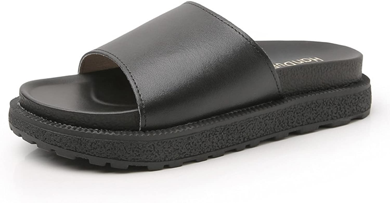 CYBLING Women's Platform Sandals Flatform Slide On Wedge Comfort shoes Summer Beach Slides Slipper