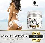 Brightening Skin Cream for Sensitive Areas Dark Spot Corrector - Dark Spot removal for Men and Women - Bright Gel for Face, Bikini - Skin Care & Natural Product - 45% percent