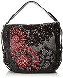 Desigual - Bols_red Queen Marteta, Shoppers y bolsos de hombro Mujer, Negro, 16x34x40 cm...