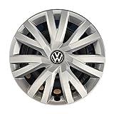 Volkswagen 5G0071456 YTI Radkappen Radzierblenden für Stahlfelgen - 4 Stück, Silber (Brillantsilber ), 16' Zoll