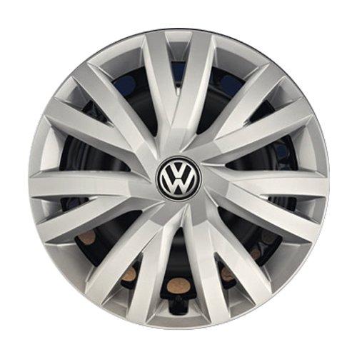 Volkswagen 5G0071456YTI 5G0071456 YTI Radkappen Radzierblenden für Stahlfelgen - 4 Stück, Silber (Brillantsilber ), 16