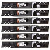 Oregon 6 Pack 592-615 G5 Gator Mulcher Blade for John Deere GX22151 GY20850 42'