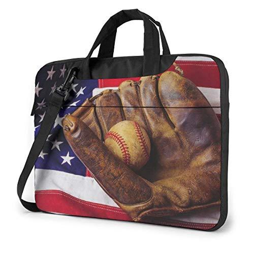 XCNGG Stoßfeste Laptoptasche Vintage Baseballhandschuh USA Umhängetasche Herren Damen Schlanke Aktentasche für Business Office