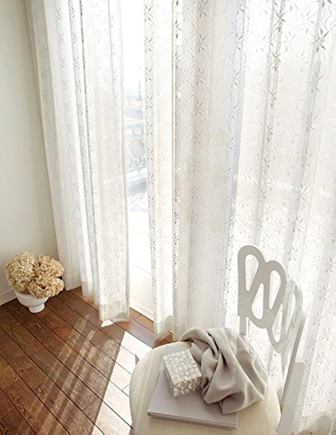 四面体球体乳製品東リ 花柄を立体的に表現 カーテン1.5倍ヒダ KSA60440 幅:300cm ×丈:170cm (2枚組)オーダーカーテン