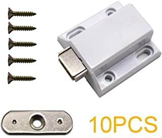 10 Pcs Magnetic Catch Push to Open Latch Pressure Touch Release Cabinet Catch for Doors Drawers