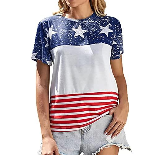 PRJN Camiseta de Manga Corta Holgada Holgada de Gran tamaño con Cuello Redondo y Estampado para Mujer, Camiseta de Manga Corta para Mujer, jerséis para Mujer, Camisetas de béisbol Top Casual de Mujer