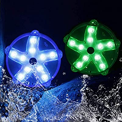 "Blufree Floating Pool Lights, LED Color-Changing Magnetic Pool Light IP68 Waterproof Starfish Lamp, 3.3"" Aquarium Pond Spa Bath Hot Tub Light.Decor for Party Event Vase Wedding Home Fish Tank. (2pcs)"