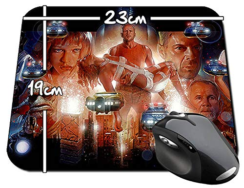El Quinto Elemento The Fifth Element Bruce Willis Milla Jovovich Alfombrilla Mousepad PC