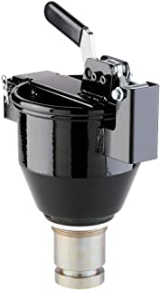 "New Pig Burpless Small Steel Drum Funnel, For 5 to 55 Gal Steel Drums & Buckets w/ 2"" NPT, Overfill Preventer Included, 8.25"" Dia x 11"" H, One-Hand-Sealable, Black, DRM1032-BK"