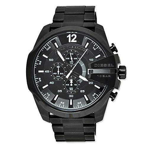 Diesel Mega Chief Analog Black Over sized dial Men's Watch - DZ4283